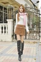 2014 Fashion Women Short Skirts Korean Style Rhinestone Decoration Elastic Waist All Match Solid Color Slim Female Mini Skirts