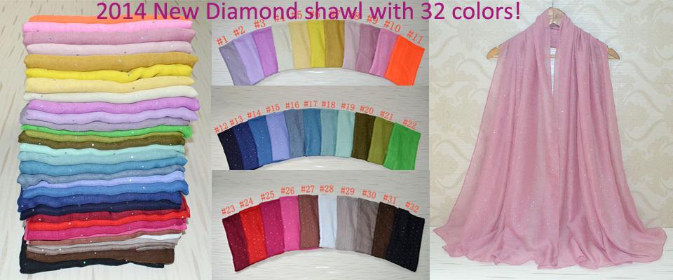 Women winter scarfs 2014,scarf women,diamond shawl,Plain hijab,Muslin hijab,bandana,wrap,Shawls and scarves,cape,solid scarves(China (Mainland))
