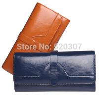 2014 Fashion designed women's wallets High quality Genuine Leather purse luxury ladies clutch   bags QB22