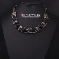JOEY Hot New Necklace Skeleton Vintage Gem Jewelry Women Chokers Necklace Free Shipping JA14216