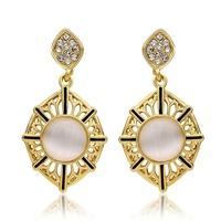 3.9X2.0CM 18K Golden Plated Jewelry  2014 Clip On Earrings for Women Fashion Earing for Women 2014 Gold Brand Earrings