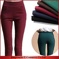 Free Shipping Wholesale 2014 Korean New Fashion Sheath Pencil Leggings Women clothing Pockets Legging Pants LEG003
