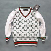 Autumn / winter three color children boy V neck stripe cotton all-match brand sweater knitwear pullovers