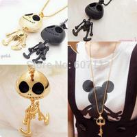 girl women decorations accessory punk UFO necklace Antique Promise Skeleton Skull Charm Pendant Necklace
