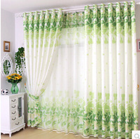 high quality modern pastoral green purple finished curtain screens bedroom living room balcony cortinas
