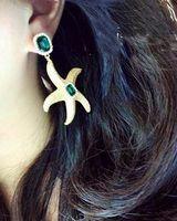 Mini Order $8.8(Mix Orders) Fashion Ladies Cute Lovely Rhinestone Starfish Drop Earring FE0125