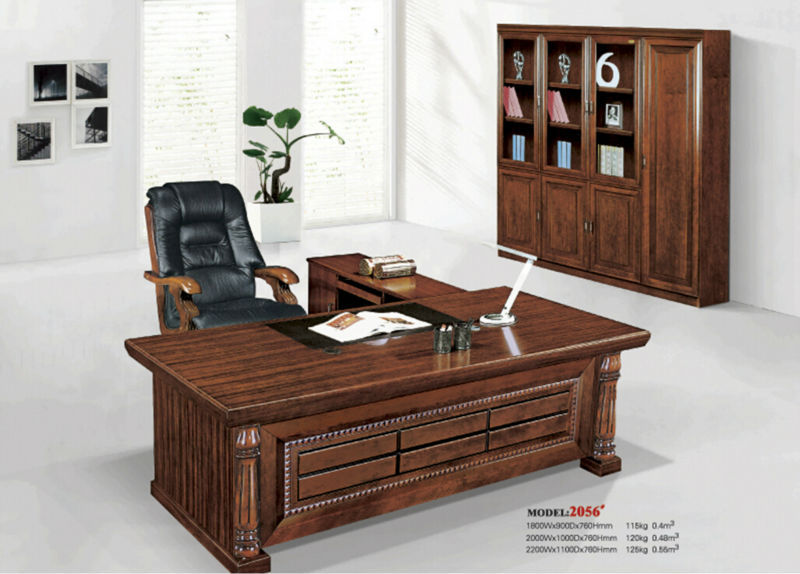 The boss's desk solid wood office furniture table computer desk desk bookcase package mail delivery to the port near the city(China (Mainland))