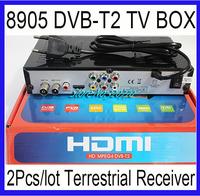 2Pcs DVB-T2 8905 Digital Terrestrial TV Receiver Support Russia Menu HD MPEG2/ MPEG4/H.264 DVB-T DVB T2 USB/HDMI STB Set Top Box