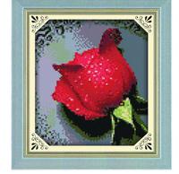 "Wall Home Decoration  NewThe latest  Precision Printing  ""Dripping Rose"" Cross-Stitch Kit , DIY Cross Stitch Sets,"