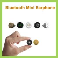 20pcs Super Mini Wireless Stereo Bluetooth Headset/Earphone/Headphone Call+ Music For i-Phone all mobile phone