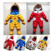 Newborn baby warm down romper,baby boys and girls winter one piece infant hoodie down jumpsuit,Gloves feet one-piece baby0-2YEAR