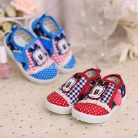 2014 spring autumn new Korean men  shoes Children cartoon puppy Velcro shoes wholesale 18-23 yards child