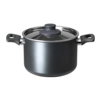 1 piece grey color 3L Non-stick coating Aluminum sauce pan with stainless steel lid