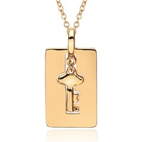 3.3X1.7CM  45+5CM 18K Gold Plated Necklace Brand Jewelry Classic Necklace For Women 2014 Classic Gold-Plated Necklace