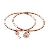 High Quality Key Lock Charm Bangles Set Women Jewelry Pulseiras