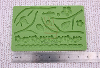 Silicone Embossed Mold Piece Three-dimensional Leaves and Branches Baking Untensils Doublle Fondant Cake Tools 02027-03