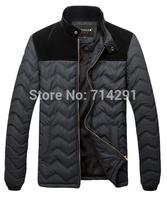 Free shipping!2014 new Korean men's Slim Long down cotton coat Fashion jacket England men's spring autumn clothing outerwear