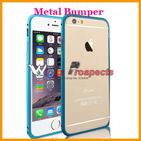 """Luxury Aluminum Fashion Ultra thin Colorful Cover Frame Buckle Hippocampus Metal Bumper Case For iPhone 6 4.7""""inch 100pcs"""