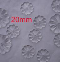 100pcs/lot , 20mm flower shape crystal glass beads , free Shipping