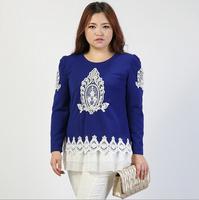 Korean Women T shirt Plus Size Autumn Big Size Women's Clothing Tops Fashion Female Blouse Large Size Ladies Puff Sleeve Clothes