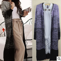Spring and autumn casual coat women long Cardigan Sweater