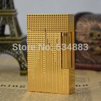 100% New Vintage Memorial S.T dupont lighter gas lighter cigarette lighter Bright sound Golden plated good quality
