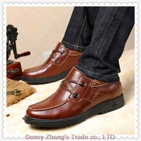 Leather business casual shoes men's fashion shoes British wind casual shoes handmade shoes