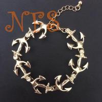 Navy anchor bracelet, metal bracelet exaggeration, the best quality alloy anchor bracelet Not allergic bracelet