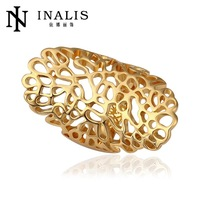 wholesale price 10pcs/lot R528   Free  Nickle Free  New Fashion Jewelry 18K Real Gold Plated Ring For Women