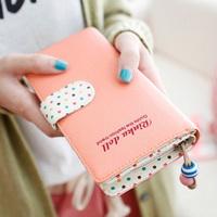 Ewha doll purse female long section of Korean women ladies purse wallet zipper wallet cute female short paragraph