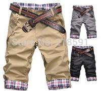 Free shipping New 2014 summer fashion slim men's shorts comfort causual shorts men leisure beach shorts 9 colors