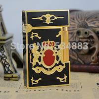 Hot sell 100% New Vintage Memorial S.T dupont lighter gas lighter cigar cigarette lighter Bright sound Golden plated