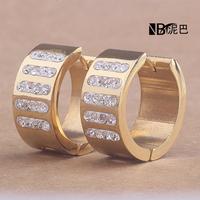 New Fashion Trendy  Gold  and Silver Earrings Rhinestone Stud Earrings Austria Crystal Earrings For Women