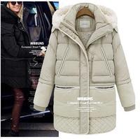 2014 Women coat thick lamb's wool jacket Girls long section thick coat jacket large size women YRF101 R1P