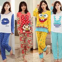 100% Cotton Monkey Casual Pyjama For Sleep Winter Pijama Pajamas Set For Women Feminino Inverno Sleepwear Dormir Homewear Suit
