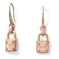 HOT Fashion Street 18K Gold Tone Lock Pendant Drop Earrings For Women Costume Jewelry Pary Gift