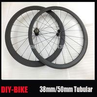 Mixed Depth 38mm/50mm tubular 700c Carbon Road Bicycle Wheel 3K Glossy or Matte Racing Cycle Wheelset Powerway R13 Hub