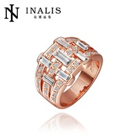 wholesale price 10pcs/lot R486   Free  Nickle Free  New Fashion Jewelry 18K Real Gold Plated Ring For Women