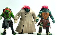 6pcs/lot Free Shipping 2014 NEW True Person 13cm Teenage Mutant Ninja Turtles Classic Anime Collection TMNT Action Figure Toys