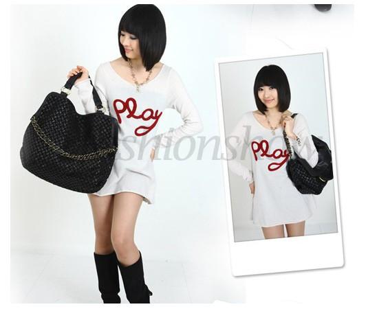 New Discount Women Lady Vintage Simple PU Leather Handbag Shoulder Bag Messenger Bags Tote Black Brown Coffee B20 3137(China (Mainland))