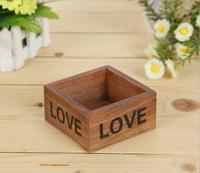 Free shipping TB020 Fashion mini wooden storage box love design storage case  jewelry box 10*10*5cm