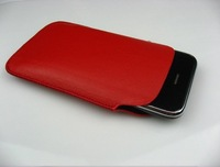 Genuine sheep Soft Leather Case Pouch Bag for iPhone 4S 3GS with retail package