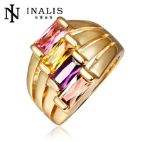 wholesale price 10pcs/lot R424   Free  Nickle Free  New Fashion Jewelry 18K Real Gold Plated Ring For Women