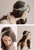 2014 Fashionable Stunning Handmade Crystal Diamante Bridal headpiece Hair jewelry