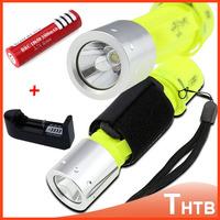 2000 Lumens CREE XM-L T6 LED Waterproof Lanterna Flashlights Scuba Dive Diving Flashlight Torch Light Lamp+18650 Battery Charger