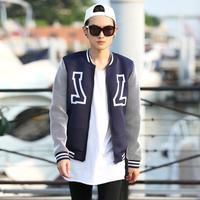 G-Dragon VOGUE Men winter JACKET coat MAN neoprene waterproof mesh sleeve baseball bomber jackets uniform outdoor N10023