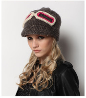 2014 Promotion New Cotton Winter Hats for Women Girls Spring and Autumn Knitted Hat Fashion Handmade Crochet Beanies CH006