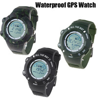 Multi-functional Waterproof GPS Watch GPS Navigator Electronic Compass Swimming Diving Travel Outdoor Sports Wristwatch 3 Colors