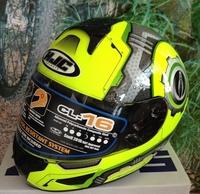 Fluorescent green wheel motorcycle helmet of full face helmet heavy locomotive running safety hat