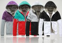 Free Shipping hoodies coat 2014 arrival top brand men's jackets zipper cardigan hooded fleece sweater men's outwear best price!